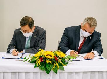 Podpis memoranda s KHNP