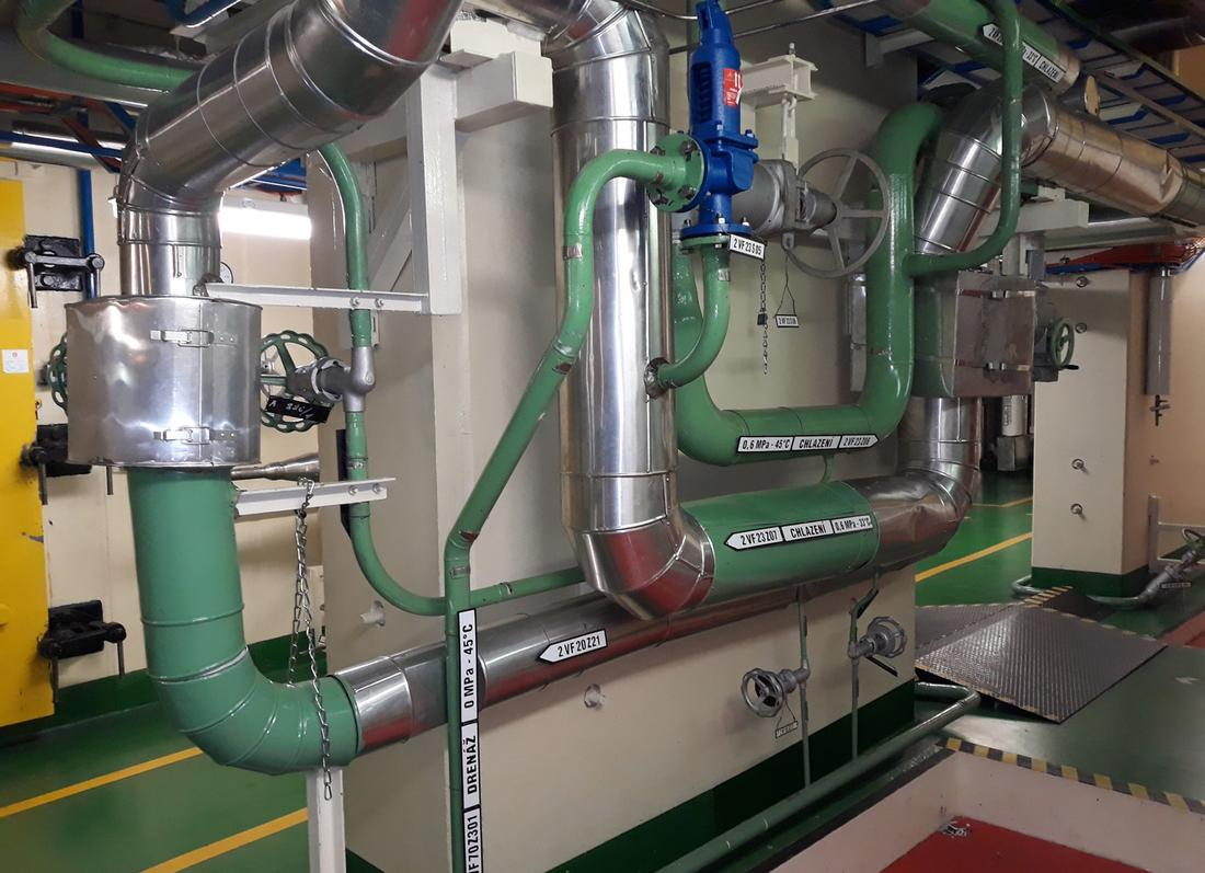 JE Temelín - Rekonstrukce potrubí TVD, výměna armatur a hadic ke klimajednotkám na primárním okruhu